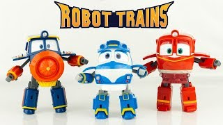 Robot Trains Kay Alf Victor Train Transformable collection Complète  Nouveau Jouet Toy Review