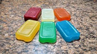Sabão Glicerinado Coloridos sem Soda de Álcool