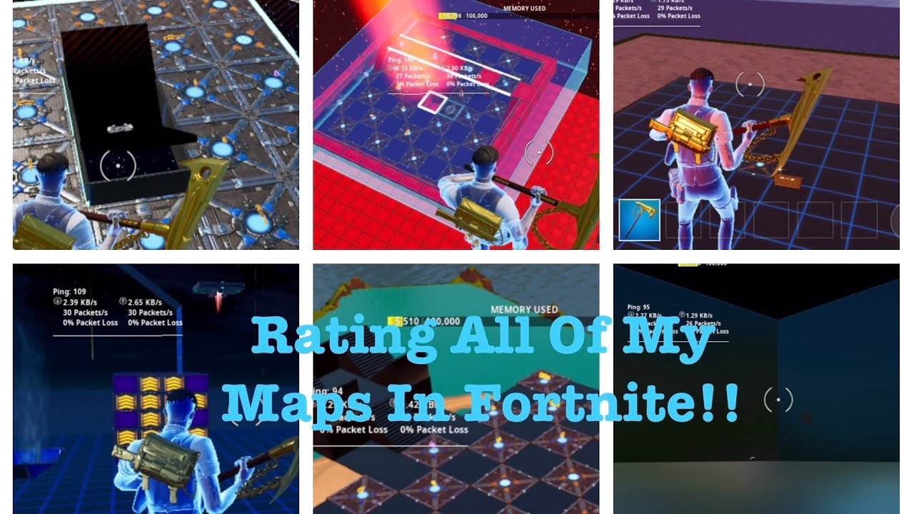 I RATED ALL OF MY FORTNITE MAPS!