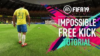 "FIFA 19 | Roberto Carlos ""IMPOSSIBLE"" Free Kick Tutorial [PS4/XBOX ONE]"
