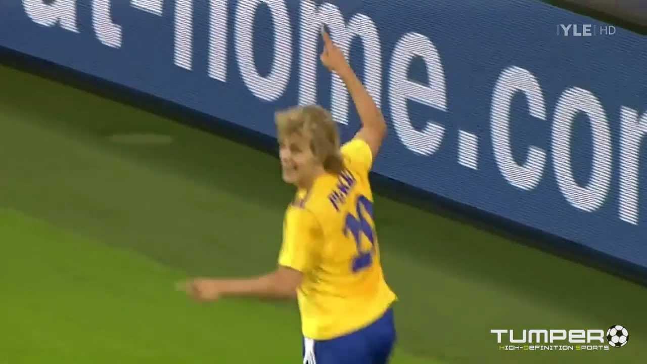 HJK-Schalke, Teemu Pukki 1-0 YLE HD