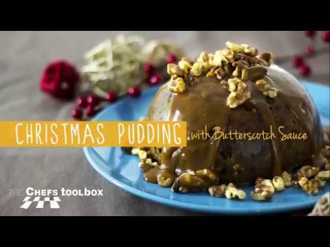 Christmas Pudding With Butterscotch Sauce
