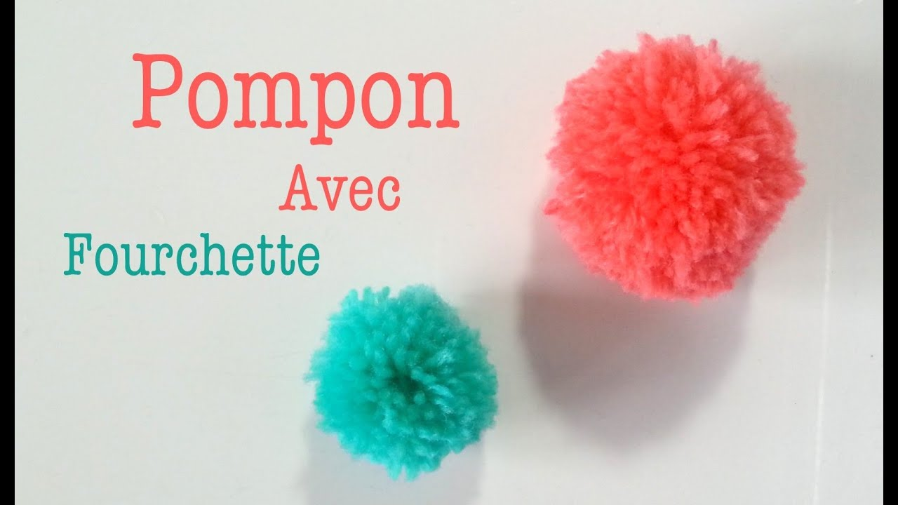 diy comment faire un pompon avec une fourchette youtube. Black Bedroom Furniture Sets. Home Design Ideas