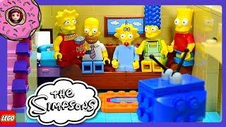 The Simpsons House Lego Build Car Garage and Ground Floor Review Silly Play Kids Toys