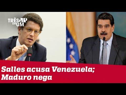 Ricardo Salles diz que petróleo derramado no Nordeste é venezuelano; Nicolás Maduro nega