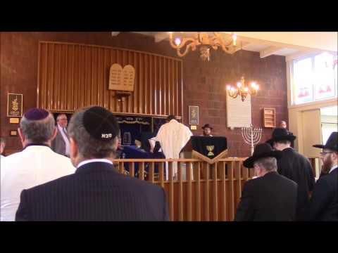 Chazan Adrian Alexander sings Mah Tovu at Rabbi Wollenberg's Induction Ceremony