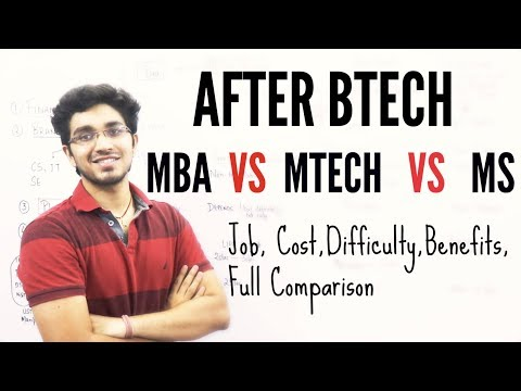 After Btech- MBA VS MTECH VS MS |  Part 4
