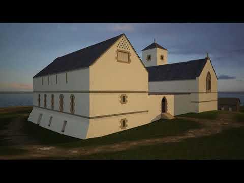 Abaty'r Santes Fair, Ynys Enlli tua 1400 - St Mary's Abbey, Bardsey Island circa 1400