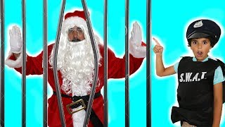 Police saved Santa Claus from prison , Kids pretend play , adel et sami