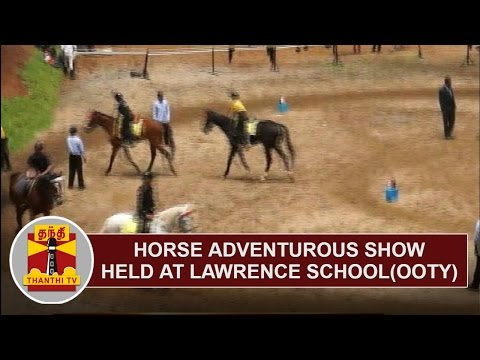 Horse adventurous show held at Ooty Lawrence School | Thanthi TV