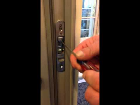 Andersen Reach out lock adjustment by Hingham Lumber - YouTube
