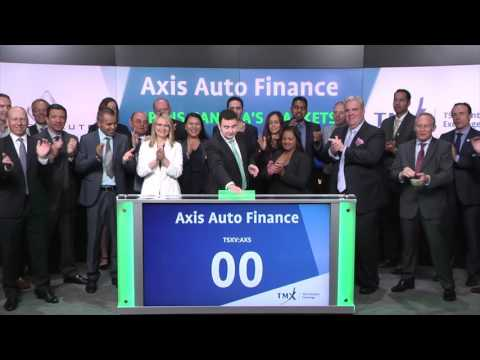 Axis Auto Finance Inc. opens Toronto Stock Exchange, Tuesday, August 16, 2016
