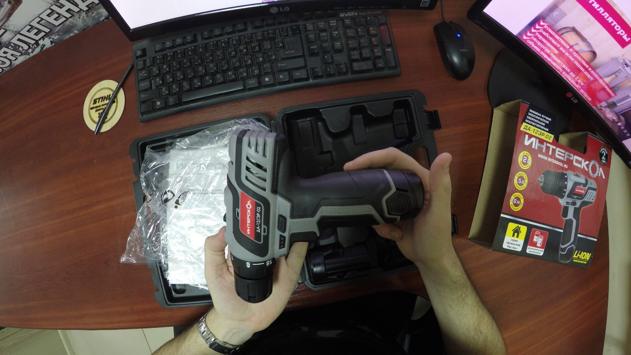 Новый Аккумуляторный шуруповерт Интерскол ДА-12 ЭР-01 - YouTube