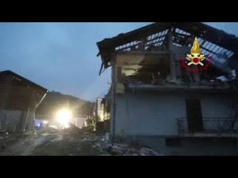 esplosione a Rossana, casa distrutta
