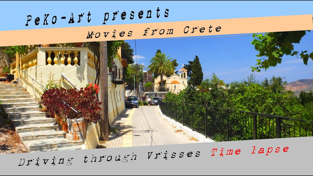 Kreta - Crete - Driving through Vrisses - Time lapse
