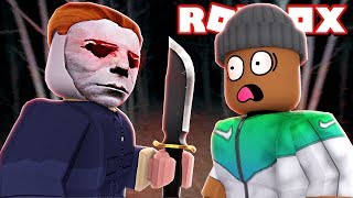 FACE to FACE with Michael Myers in Roblox Dead By Daylight!! (Roblox Livestream)
