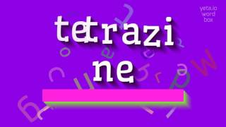 """How to say """"tetrazine""""! (High Quality Voices)"""