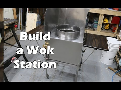 How to Build a Stainless Steel Wok Station  With High