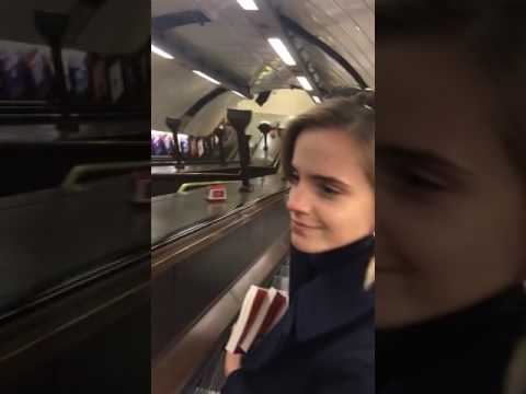 Emma Watson Hides books on the London Underground