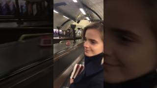 Emma Hides Books on the London Underground