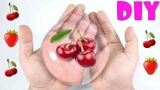 DIY Вишня в прозрачной КАПЛЕ/How to make Edible Cherry RAINDROP CAKE