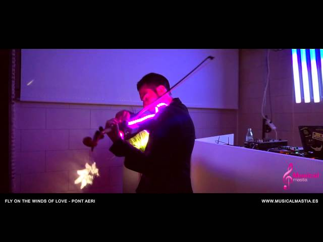Flying free Pont Aeri VIOLIN HOUSE VIOLIN ELECTRICO Musical Mastia violin led