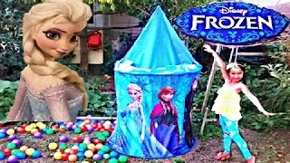 Disney Frozen Movie Videos 2016 Castle Rainbow Ballpit Surpise…