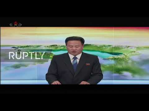 North Korea: State TV confirms 'super-large' rocket launcher test