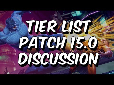 Patch 15.0 - Tier List Discussion - Marvel Contest Of Champions