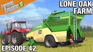 Farming Simulator 17 Timelapse - Lone Oak Farm Episode 42 MAKING HAY PELLETS