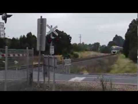 Vline Velocity Train at Level Crossing  Traralgon to Melbourne 160kph