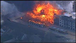 RAW: Firefighters battle massive apartment complex blaze