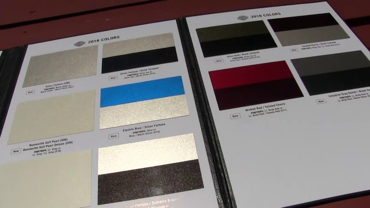 2018 Harley Color Chart >> 2018 Harley Davidson Motorcycles Colors Chart ~ 2019 ...