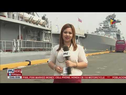 Russian navy ships, dumaong na sa Maynila