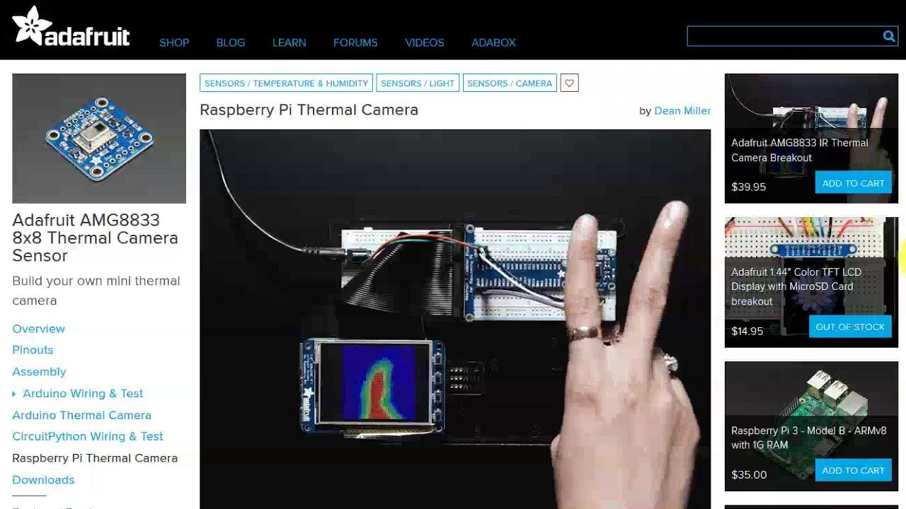 Raspberry Pi - Câmera térmica? Yes!!! [AMG8833]