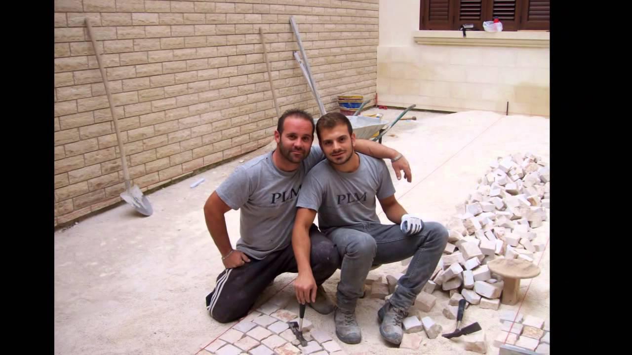 Plm pavimenti in pietra naturale da esterno posa di sampietrini mosaici piastrelle in puglia - Piastrelle di pietra per esterni ...