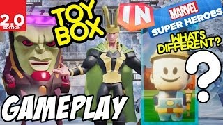 Disney Infinity 2.0 Marvel Super Heroes New Toy Box Mode W/ Gameplay! What's Different (pt. 2)