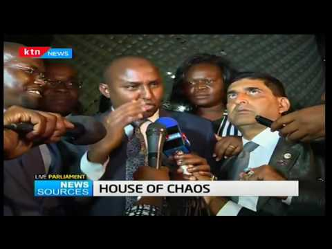 News Sources: Chaos rocks Parliamentary proceedings as CORD MP's forces sitting to be adjourned