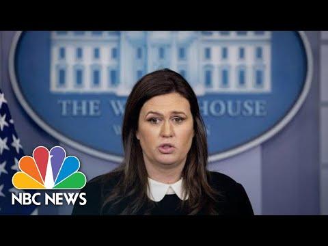 Sanders Says FBI 'Ambushed' Flynn, Brands Cohen 'A Liar' | NBC News