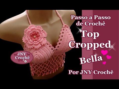 Passo a Passo Top Cropped Bella por JNY Crochê