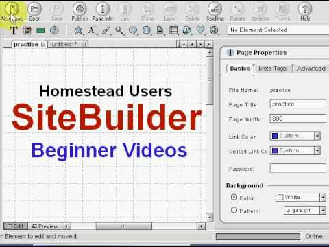 Homestead site builder will not open! Youtube.
