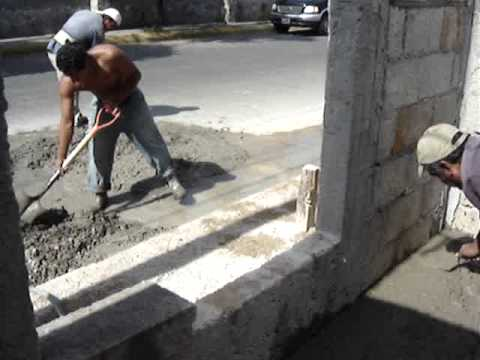 Piso de concreto en una casa youtube for Como se construye una piscina de concreto