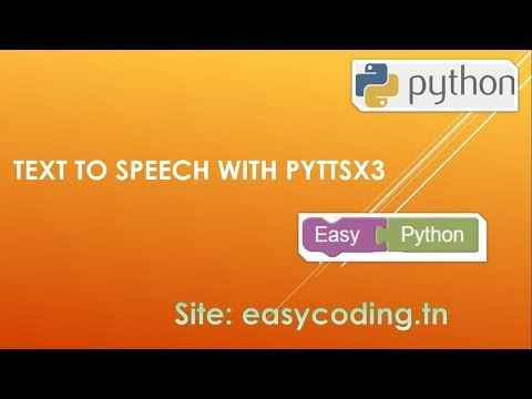 Easy Python tutorial 17: Text to speech TTS with pyttsx3 - YouTube