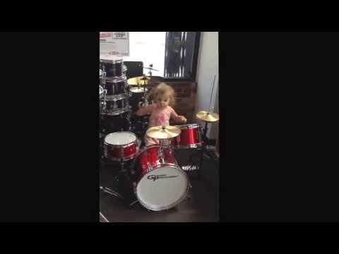 Drumming at Sam Ash Sept 2015