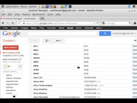 Import Contacts from VCF file to gMail - YouTube