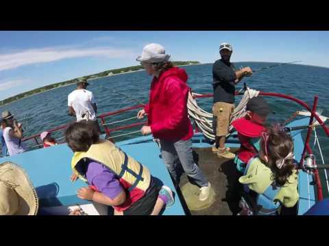 Martha's Vineyard Public Charter School Kindergarten Fishing trip aboard the MV Skipper