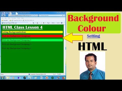 Background Colour In Html Lesson4