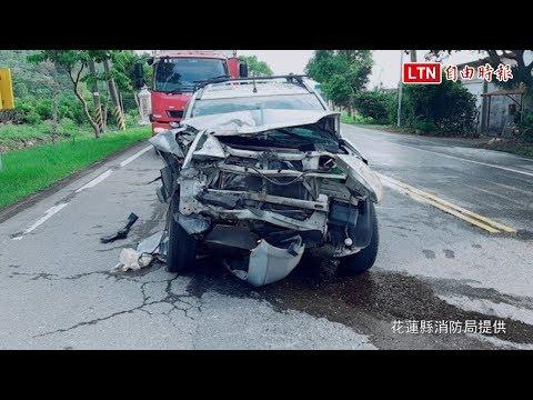 台9線花蓮富里段追撞車禍 1重傷1輕傷