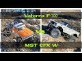 Vaterra Ascender 1/10 1968 Ford F-100 4WD BND vs 1/8 MST CFX W Jeep Nukizer FIRST RUN NEW YEARS DAY