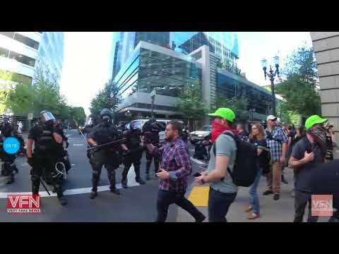 Once again, antifa gets their asses handed to them, they call police and go home to momma